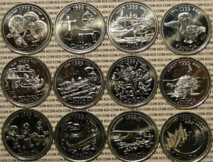 CANADA 1992 COMPLETE SET OF THE COMMEMORATIVE 25 CENTS 12