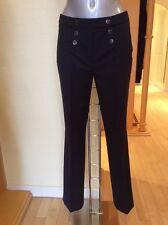 Gerry Weber 'Pamela' Trousers Size 10 BNWT Navy, Button Detail RRP £85 NOW £38