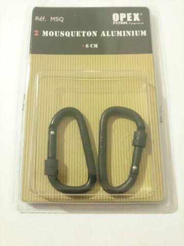 Set de 2 MOUSQUETON EN ALUMINIUM Diamètre 6 mm