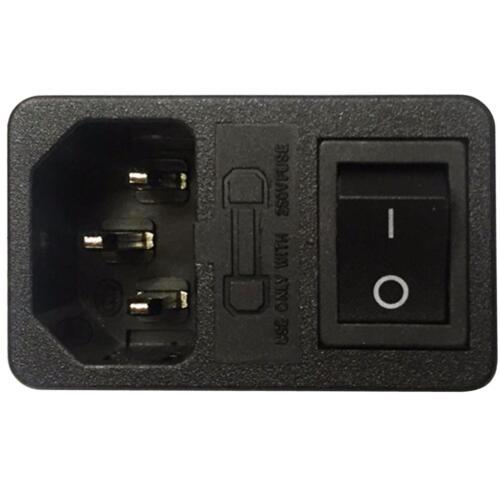 porte-fusible IEC mail connecteur Switch Alimentation entrée principale Module