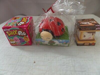 Mini S/'more /& Silly Poo RARE!!!!!!!!!!!! New Genuine Silly Squishies Lady Bug