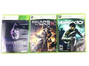 Lot-of-3-Microsoft-Xbox-360-Games-Resident-Evil-6-Gears-of-War-amp-Dark-Sector