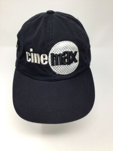 Vintage Cinemax Adjustable Hat Black 80s 90s Cap L