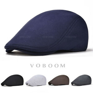 42a6f80cb41 VOBOOM Mens Ivy Hat Cotton Newsboy Gatsby Cap Cabbie Golf Driving ...