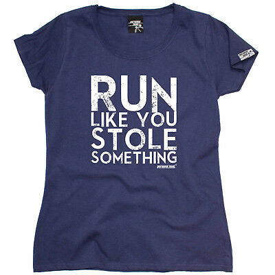 Aufrichtig Running Tops T-shirt Funny Novelty Womens Tee Tshirt - Run Like You Stole Someth Dauerhafte Modellierung