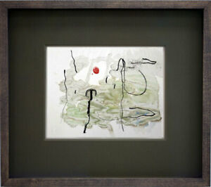 Joan-MIRO-Limited-EDITION-Lithograph-Watercolor-1963-w-Cat-Ref-c82-w-Frame