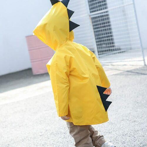 Kids Raincoat Waterproof Children Rainwear Dinosaur Poncho 2-6 years New