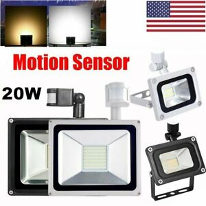 20W-10W-Motion-Sensor-Flood-Light-Waterproof-Outdoor-Garden-LED-Security-Lamp-US