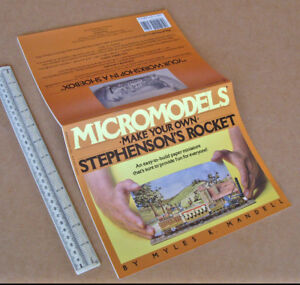 1980s-Micromodels-Make-Your-Own-Stephenson-039-s-Rocket-Model-Book-by-Myles-Mandell