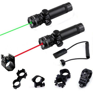 Tactical Hunting Green/Red Laser Sight Dot Scope with Pressure Switch Mount US