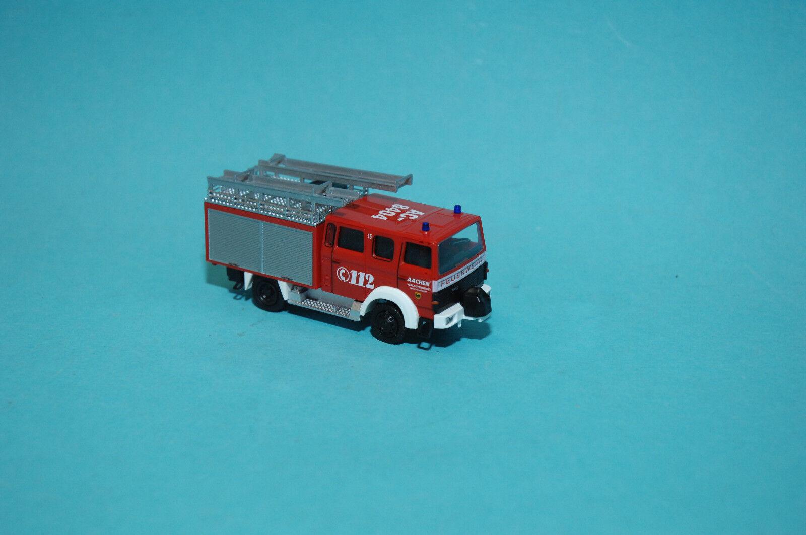 Rietze 71214 IVECO LENTNER LENTNER LENTNER lf16-ts   Fire Brigade Aachen   HO NEW 08ce50