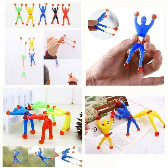 3 X Sticky Men Wall Walker Tumbler Toys Boy Girl Christmas Stocking