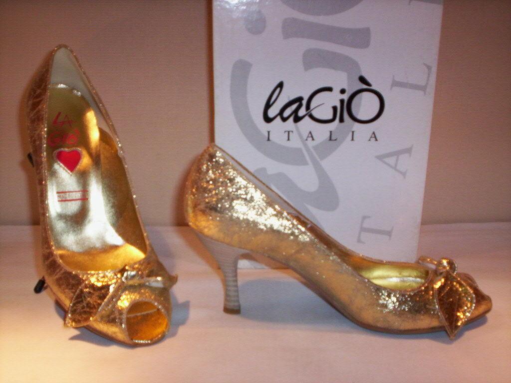 Scarpe decoltè decolletè eleganti La Giò donna shoe spuntate tacchi oro 37 38 39