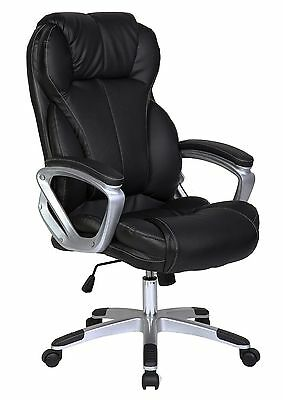 Big Leather Office Executive High Back Chair Adjustable Seat Contemporary Tilt