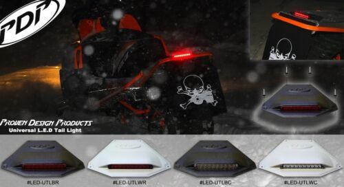 POLARIS L.E.D Universal Snowmobile Tail Light /_ Black Housing Red Lense