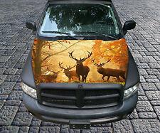 H86 DEER HUNTING Hood Wrap Wraps Decal Sticker Tint Vinyl Image Graphic
