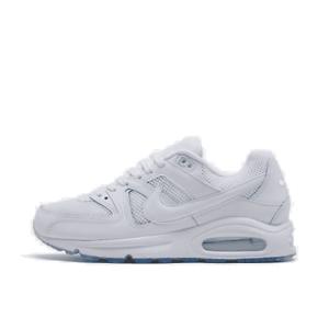 men's nike air max command mesh casual shoes white/white