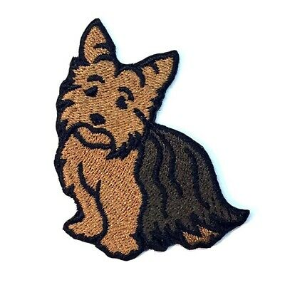 "Yorkie Yorkshire Terrier Dog 3-1//2/"" Embroidered Iron-on Patch E20"