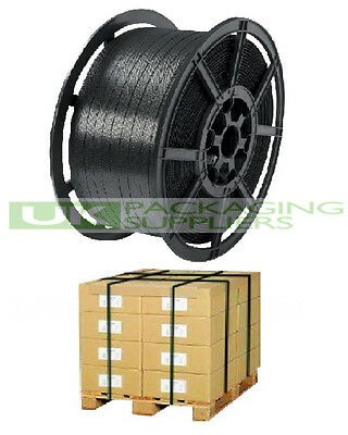 1 x HAND PALLET STRAPPING BANDING COIL PLASTIC POLYPROP 12mm x 1000 METRE 310kg
