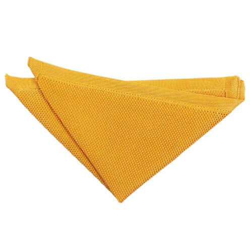 DQT Premium Knit Knitted Marigold Yellow Casual Formal Men/'s Handkerchief Hanky