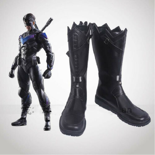 Nightwing Cosplay Boots Dick Grayson Men Shoes Robin Fancy Dress Halloween Props