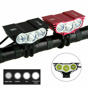 USB Rechargeable 15000LM Zoom Bicycle Light Road Bike Front Headlamp Rear Light