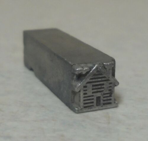 Vintage Small House Letterpress Printing Block Metal