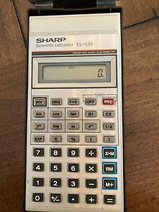Vintage Sharp Scientific Calculator EL-530 Working With Case