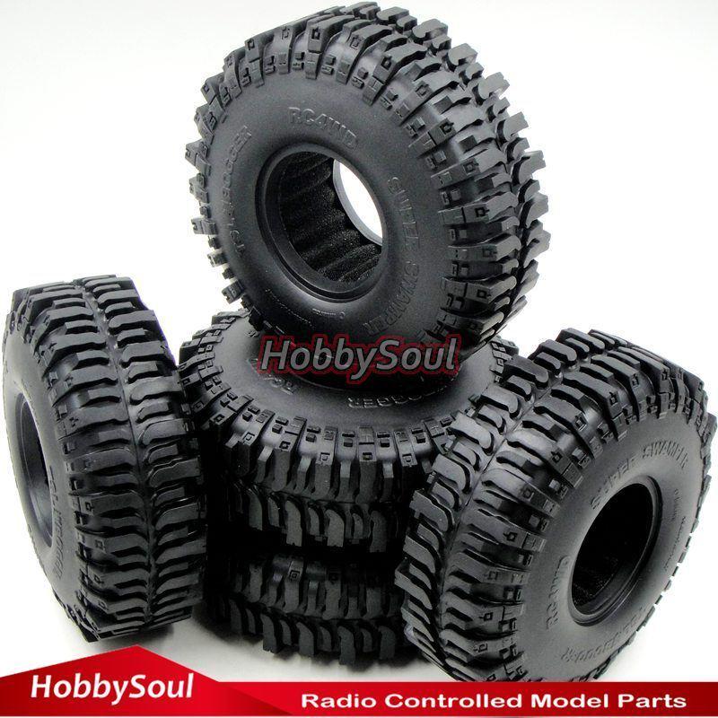 5 un. RC Crawler 1.9 Neumáticos 121 mm neumáticos Fit RC 4WD axial 1.9  mm RUEDAS LLANTAS