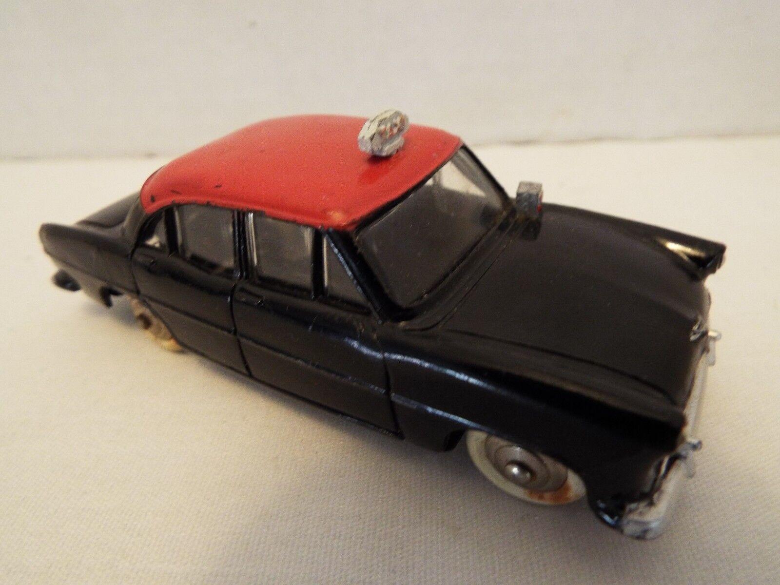 Vintage Dinky Juguetes Simca Ariane Negro Rojo Taxi década de 1960 Francia