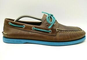 Sperry-Top-Sider-Brown-Casual-Slip-On-Deck-Boat-Loafers-Shoes-Men-039-s-10-5-M