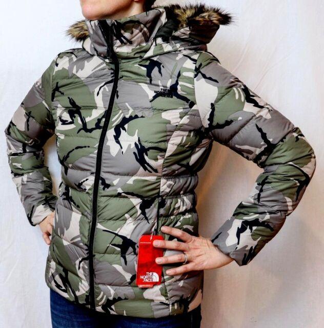 6f8601afa The North Face Women's Gotham Jacket II Medium Burnt Olive Green Disrupt  Camo