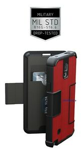separation shoes 020e0 86d9b Details about New Urban Armor Gear UAG Folio Samsung Galaxy Note 4 [RED]  Military Drop Test