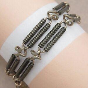 Antique-Victorian-Silver-Niello-Mixed-Metals-Chain-Link-4-Necklace-Bracelet