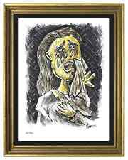 """Pablo Picasso Signed/Hand-Numbered Ltd Ed """"Weeping Woman"""" Litho Print (unframed)"""