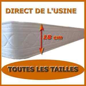 matelas mousse18 cm latex 80x200 90x190 140x190 140x200 150x190 160x200 180x200 ebay. Black Bedroom Furniture Sets. Home Design Ideas