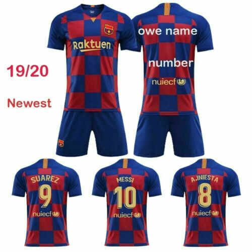 19//20 Football Kits Soccer Suits Club Kids Jersey Strip Sports Outfit Uniform UK