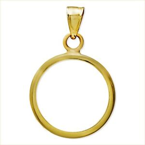 14-KT-SOLID-GOLD-FOR-1-4-OZ-GOLD-EAGLE-PLAIN-BEZEL-MODERN-amp-CLEAN-82-88