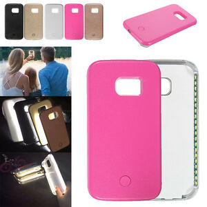 pretty nice 19681 9e4d6 Details about Selfie Flash LED Light Up Hard Case Cover For Samsung Galaxy  S5 S6 S6E S7E S7 ❤