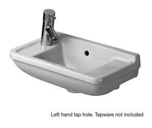 NEW-Duravit-Starck-3-500mm-Hand-Basin-LH-Taphole-White-0751500009