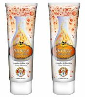 SALE 2 x Pro Tan Dr Bronze Upon A Time Dark Tanning Sunbed Accelerator Lotion