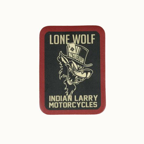 Biker Chopper Indian Larry Lone Wolf POKER echt Leder ricamate LEATHER PATCH NUOVO
