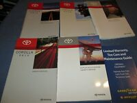 2013 Toyota Corolla Owners Manual Set W/ Navigation
