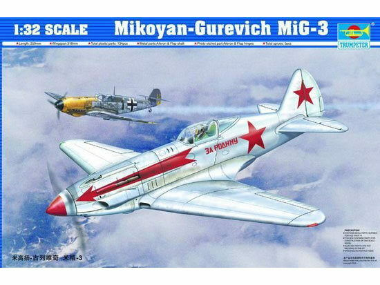 TRUMPETER® 02230 Mikoyan-Gurevich MiG-3 in 1 1 1 32  | Kompletter Spezifikationsbereich