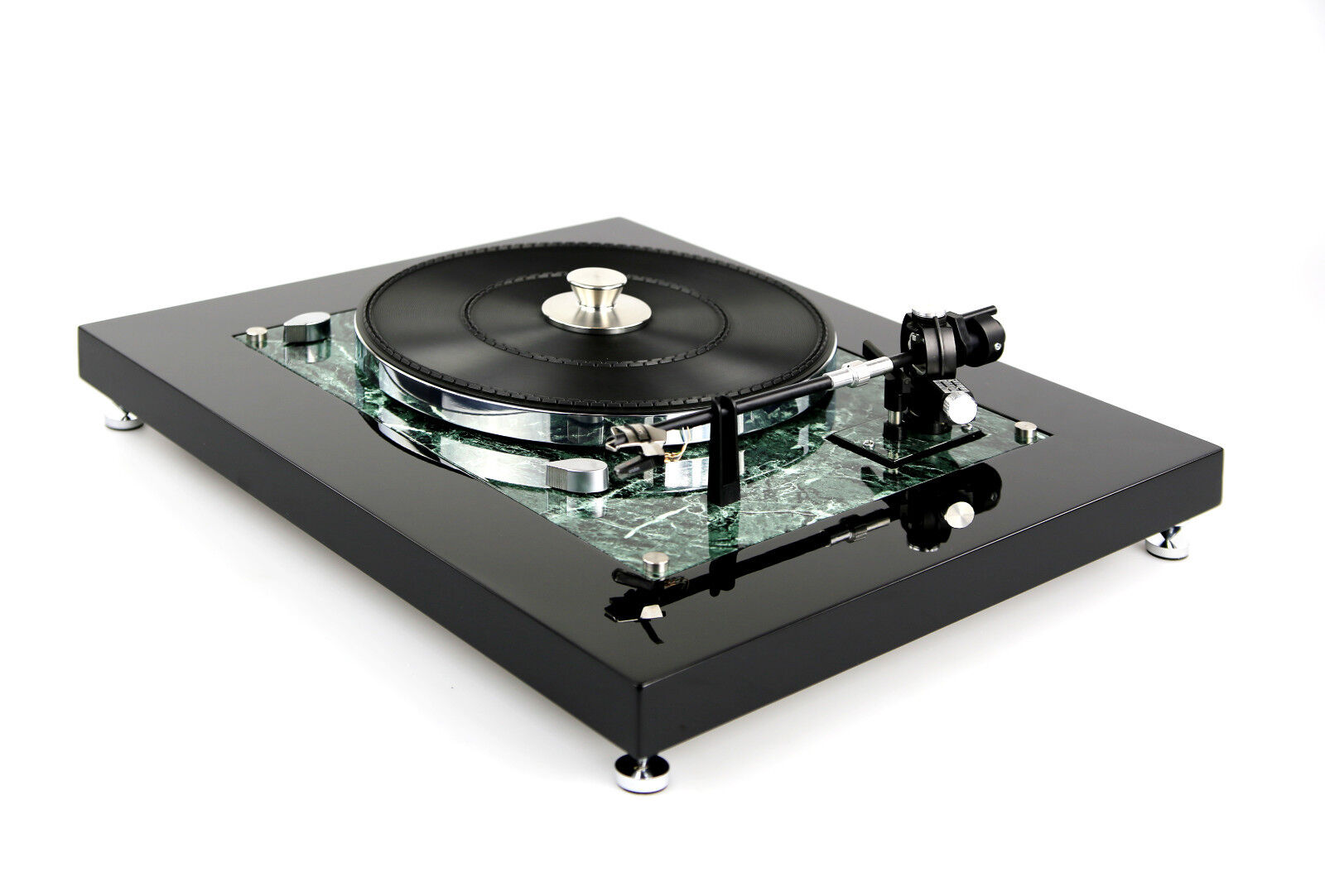 Image 1 - Restored Thorens TD 145 MKII Turntable Turntable in Marble Effect