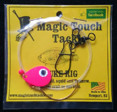 Magic Touch Tackle No.540 FLUKE RIG with PINK SPINNER Flounder Weakfish
