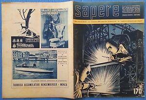 Analytique Sapere Quindicinale 1942 N.170 Gennaio 1942 Foto Sommario 12/17
