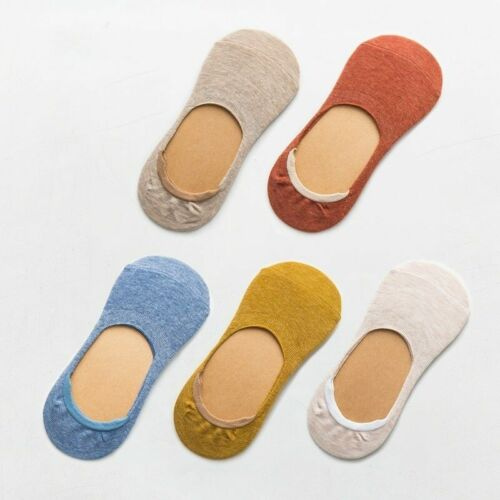 women socks Solid color fashion wild shallow Pack 5 Pairs NEW Socks Plain Solid