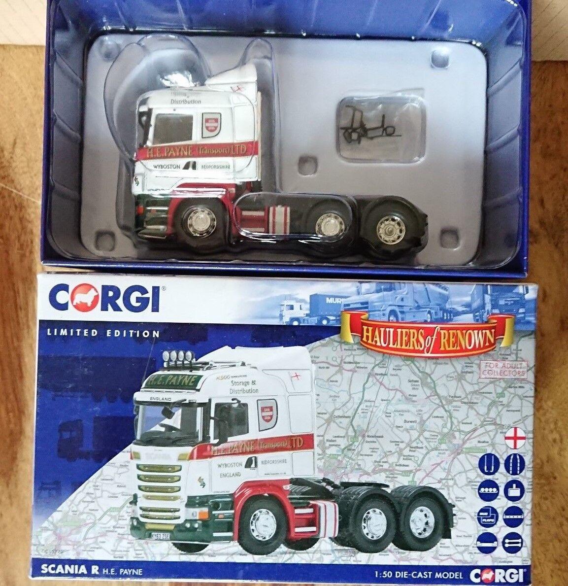 Corgi CC13779 Scania R Tractor Unit H.E. Payne Ltd Edit. No. 0481 of 1000