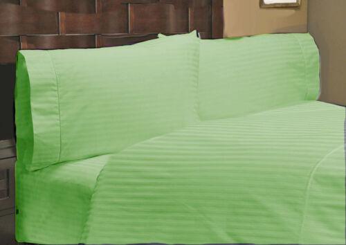 Extra Deep Pocket 4 pc Sheet Set 1000TC Egyptian Cotton Striped Color King Size